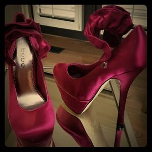 Purple Satin High heel